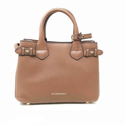 fc7dd665b3 Burberry 39807941 Medium Banner House Check Leather Ladies Tote Bag