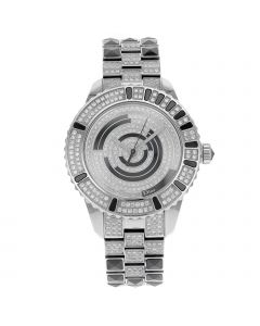CHRISTIAN DIOR CHRISTAL STAINLESS STEEL 33 MM STAINLESS & CERAMIC WATCH