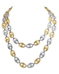18K TWO-TONED GOLD CHAIN