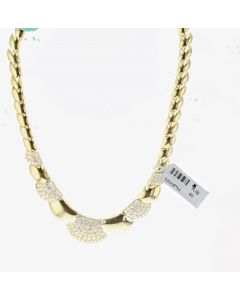 18K Yellow Gold Vintage Diamond Necklace