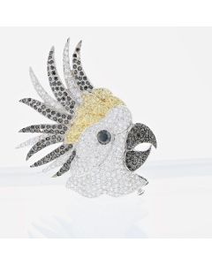 COCKATOO BROOCH, 18K