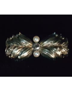 925 PEARL WITH DIAMOND BROOCH, 925
