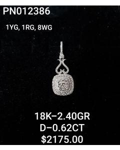 18K WG-YG-RG PENDANT WITH DIAMONDS
