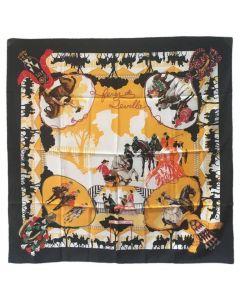 Hermes Feria de Sevilla Silk Scarf in Black