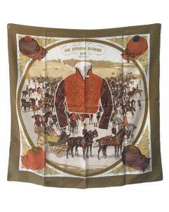 Hermes Vintage On Epsom Downs Silk Scarf, circa 1970s