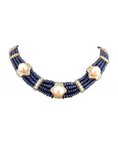 FRED Diamond,Sapphire & Pearl Necklace