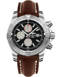 Breitling Super Avenger II Leather Strap - Deployant Buckle Men's Watches - A1337111/BC29-leather-brown-deployant