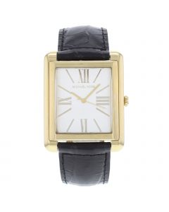 MICHAEL KORS STAINLESS STEEL 36 MM X 45 MM LEATHER WATCH