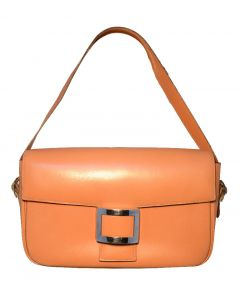 Hermes Vintage Tan Leather Buckle Shoulder Bag