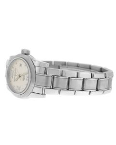 New Ladies Girard Perregaux Lady F Steel Ref. 8040 Automatic 29MM Watch Papers