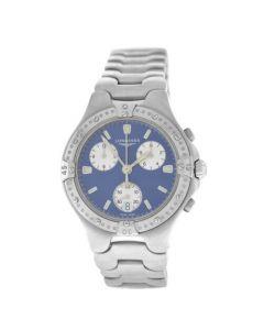 New Men's Longines Sport Wing L3.614.4.92.6 Steel Quartz 38mm Chronograph Watch