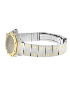 Ladies Cartier Santos Octagon 25MM 18K Yellow Gold Steel Automatic Watch