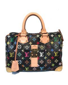 Limited Edition Louis Vuitton Black Monogram Murkami Speedy