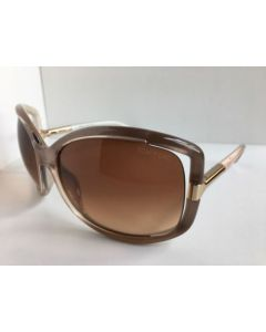 New Tom Ford TF 125 74F Anais Beige Pearl Sunglasses