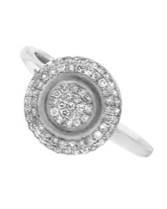 NEW GLK 14K WHITE GOLD 0.33CT PAV� DIAMOND RING