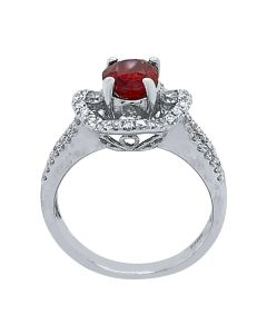 14k White Gold Spinel Diamond Ring