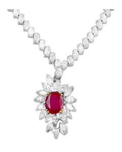 BOUCHERON DIAMOND AND RUBY NECKLACE