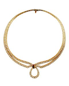BOUCHERON 18K DIAMOND AND RUBY NECKLACE