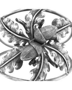 Mario Buccellati Silver Acorn and Leaf Bangle
