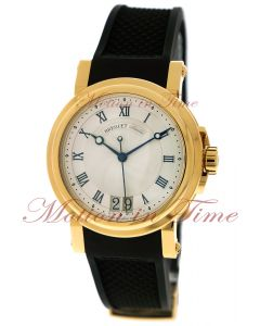 Breguet Marine Automatic Big Date, Silver Dial - Yellow Gold on Strap