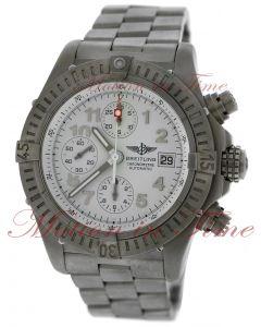 Breitling Avenger Chronograph, White Dial - Titanium on Bracelet