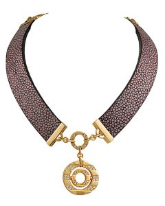 BVLGARI DIAMOND GALOUCHAT NECKLACE AND BRACELET