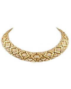 BVLGARI DIAMOND TRIKA NECKLACE
