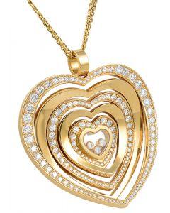 CHOPARD DIAMOND HEART PENDANT AND CHAIN