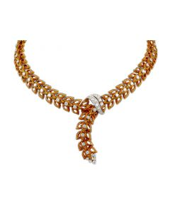 CIRCA 1970'S 18K GOLD AND DIAMOND NECKLACE