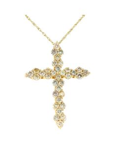 14K Yellow Gold 1.06 CT Natural Yellow Diamond Pendant