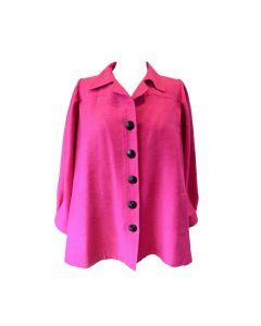 Yves Saint Laurent Vintage Pink Silk and Linen Faille Jacket