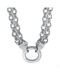 Charles Krypell Silver and Diamond Necklace