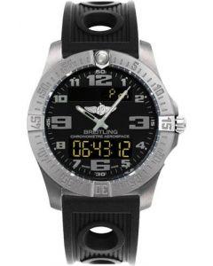 Breitling Aerospace Evo Ocean Racer Strap - Deployant Buckle Titanium Men's Watch - E7936310/BC27-ocean-racer-black-deployant