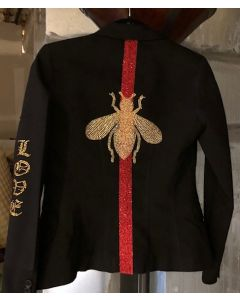 Black Blazer with Gold Bee