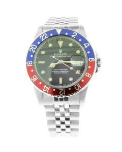 Mens Rolex GMT-Master Date Sub Stainless Steel Oyster PEPSI Bezel Watch