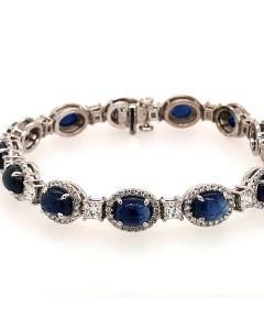 Blue Sapphire Bracelet with diamonds