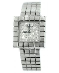 Chopard White Gold Cube Diamond Watch.