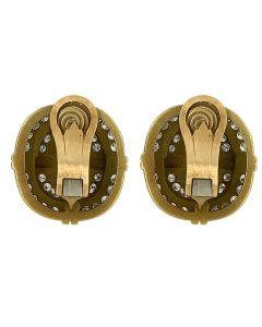 Kieselstein Cord 18k Yellow Gold Peridot & Diamond Earclip