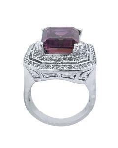 14k White Gold Ametrine Diamond Ring