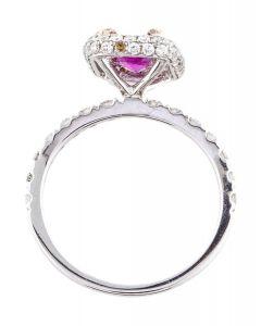 14K PINK SAPPHIRE & DIAMOND COCKTAIL RING