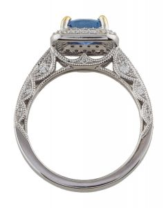 14K DIAMOND & SAPPHIRE COCKTAIL RING