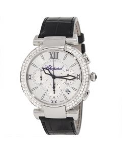 CHOPARD IMPERIALE STAINLESS STEEL 40 MM LEATHER WATCH